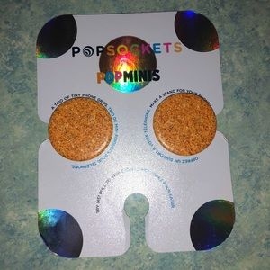 Gold Glitter Pop Socket Minis